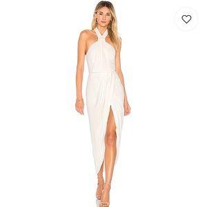 Knot Draped Shona Joy Dress in Ivory, Size 2